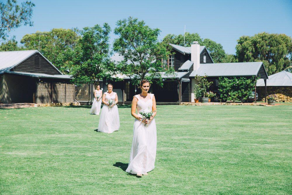bridesmaide entrance to ceremony