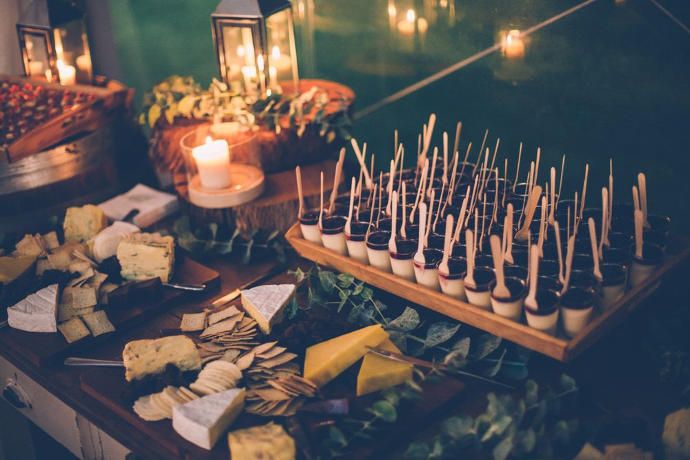 Wedding food at night