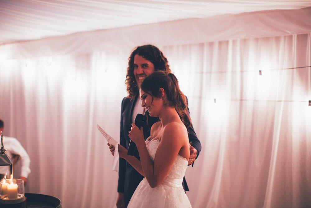 Brides makes her speech