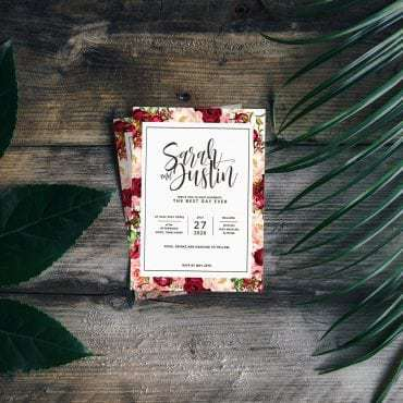 designer wedding invitation