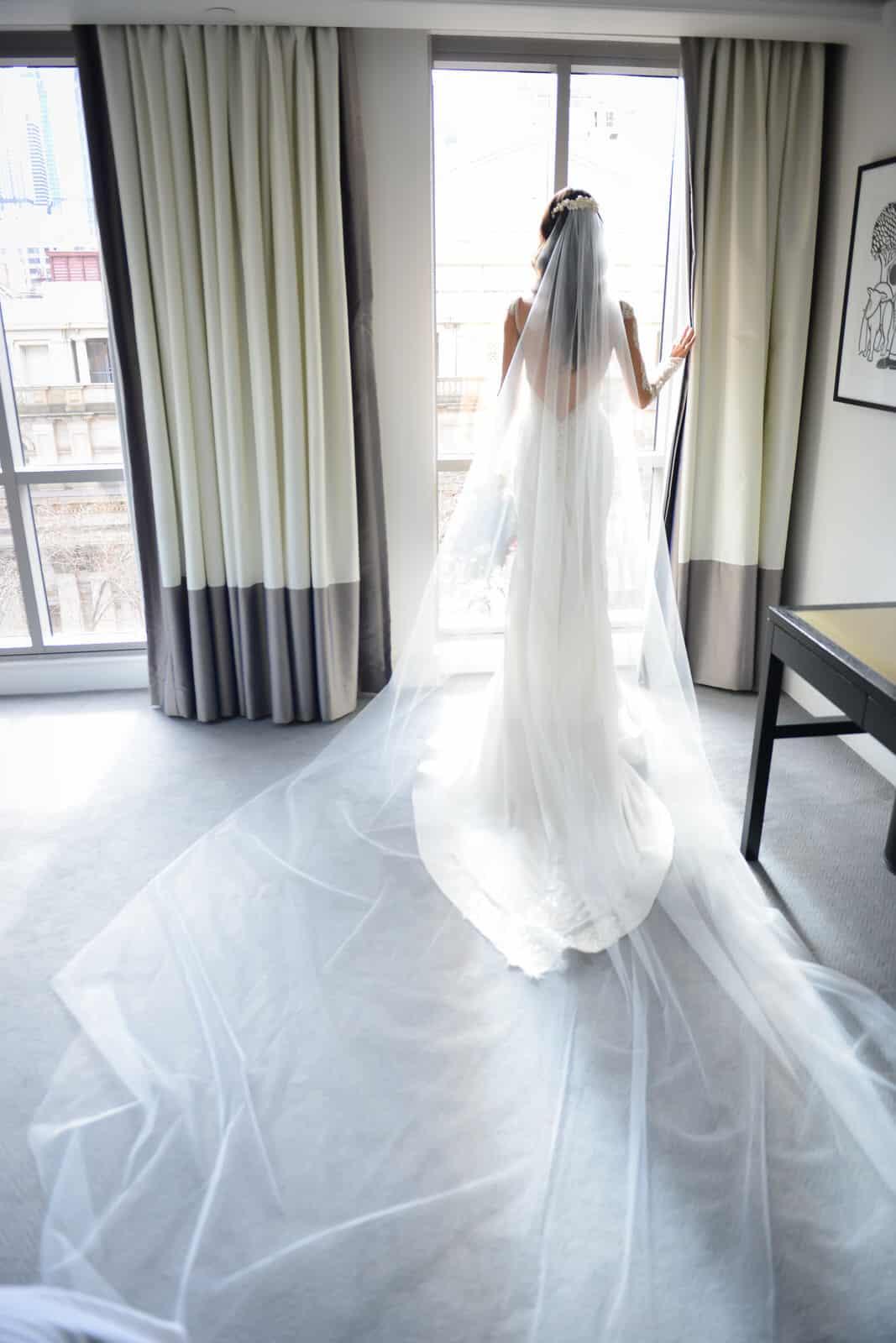 Emily Simms Melbourne Wedding Photos Wedding Dress with Veil