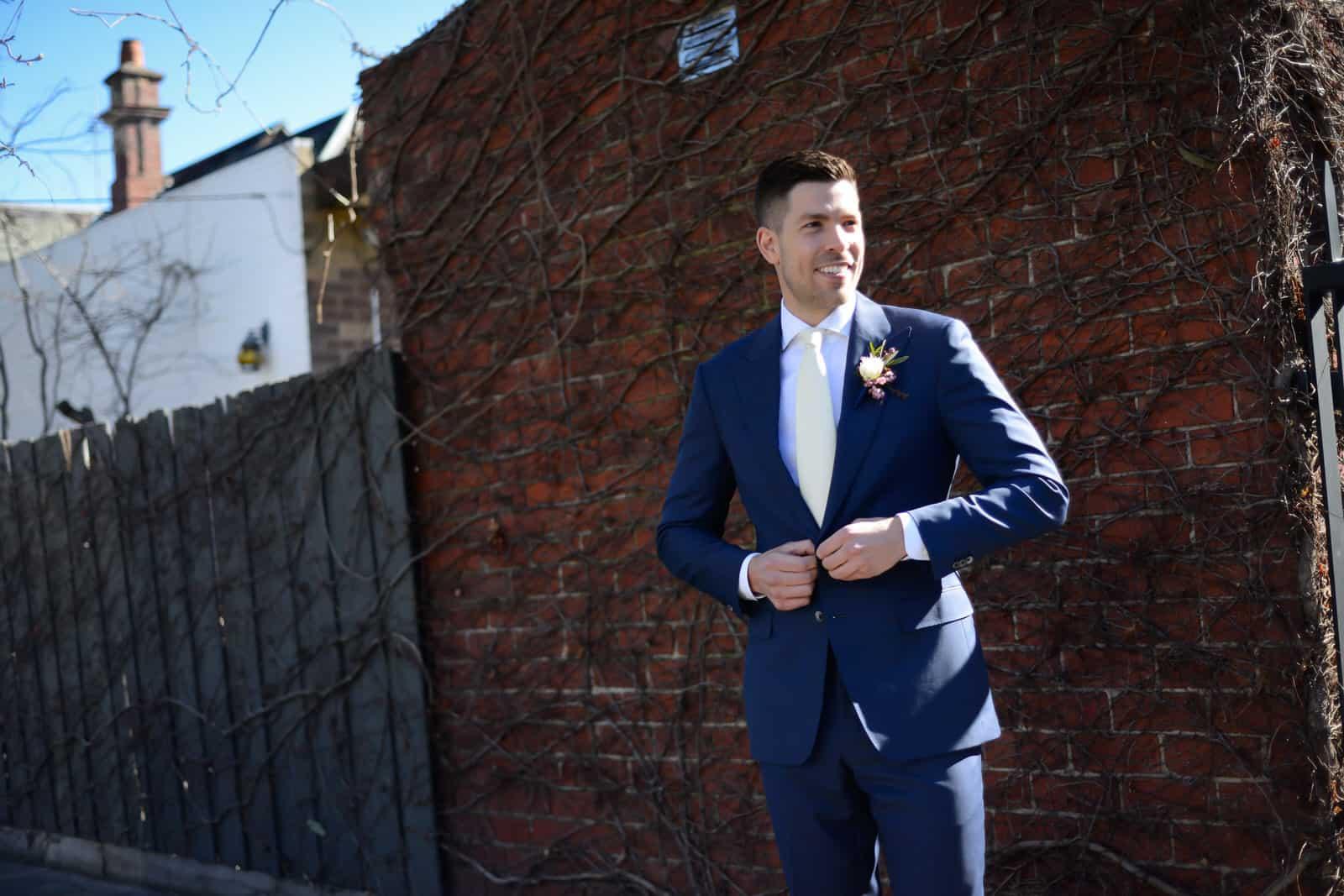 Emily Simms Melbourne Wedding Photos Groom