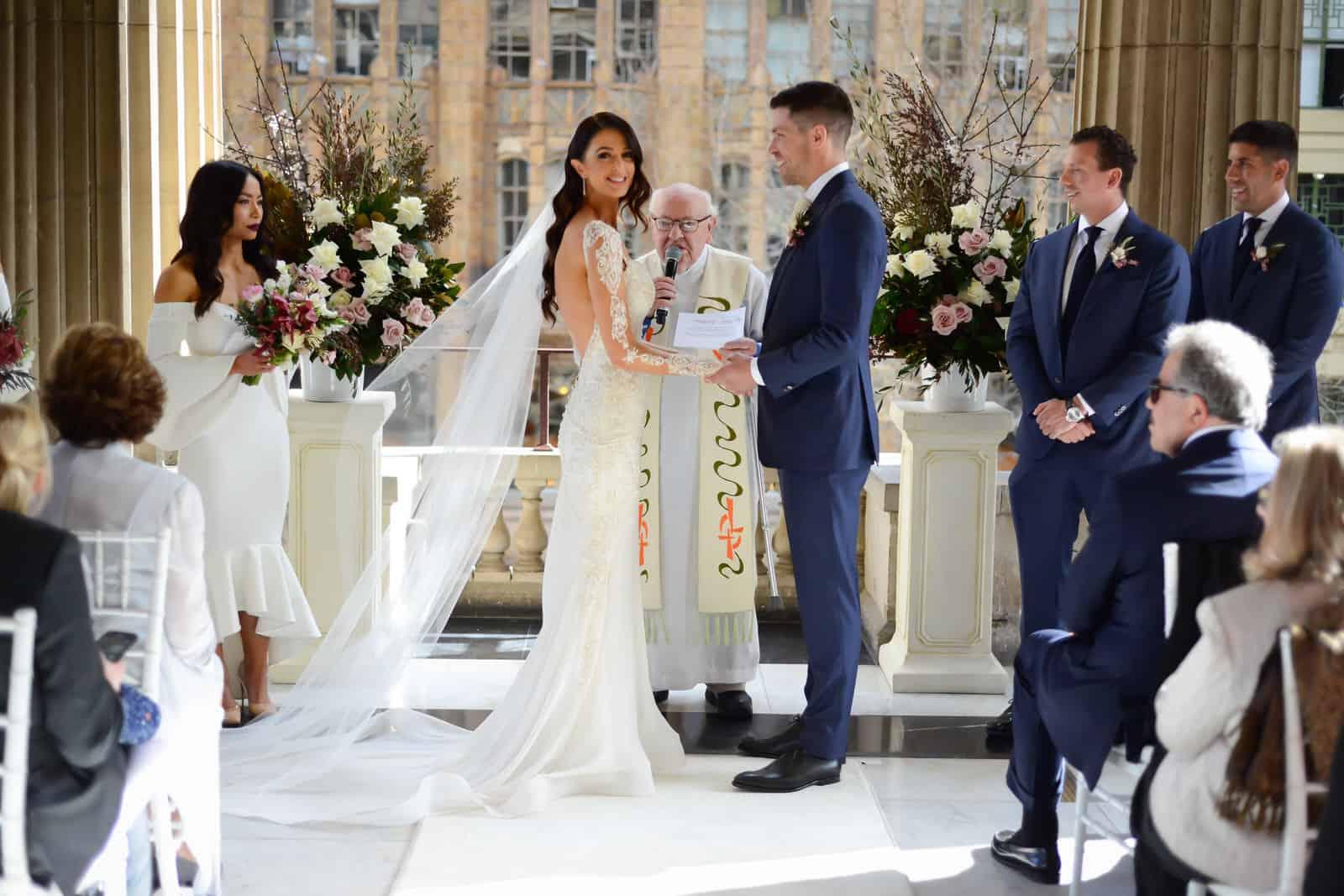 Emily Simms Melbourne Wedding Ceremony