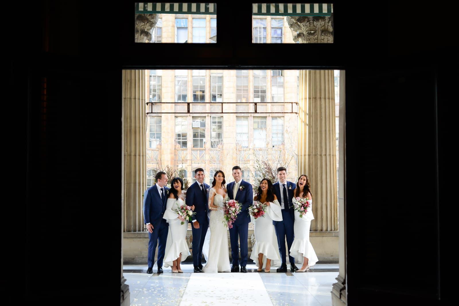 Emily Simms Melbourne Wedding party