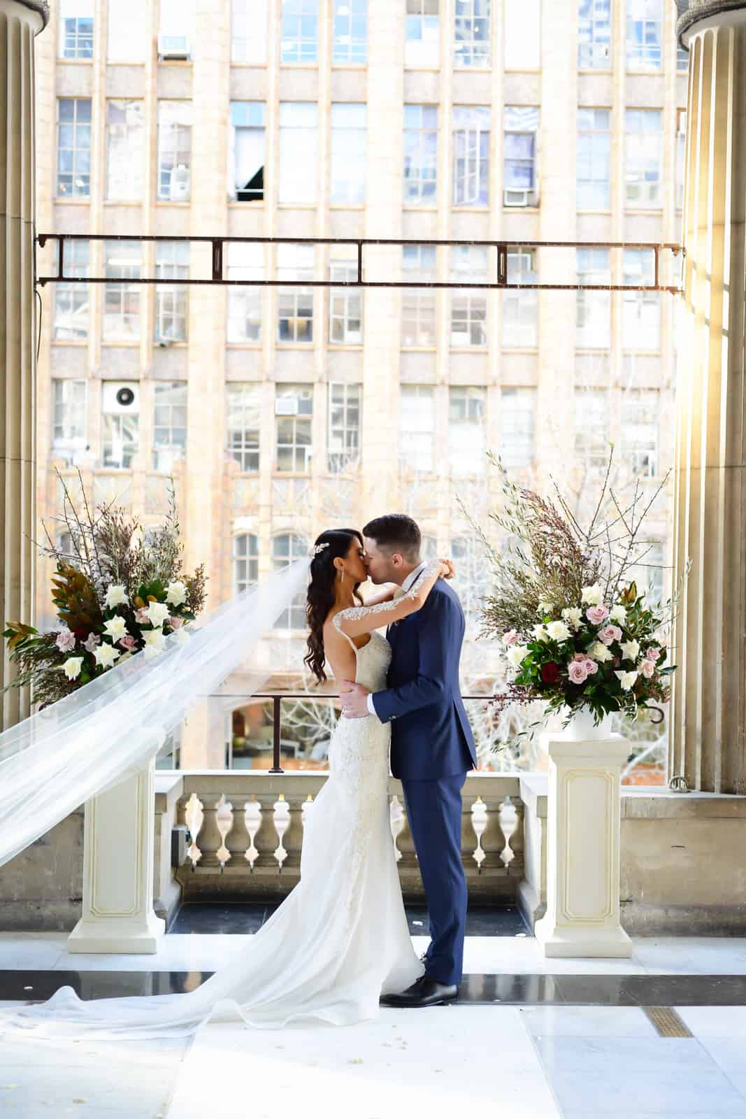 Emily Simms Melbourne Wedding Kiss