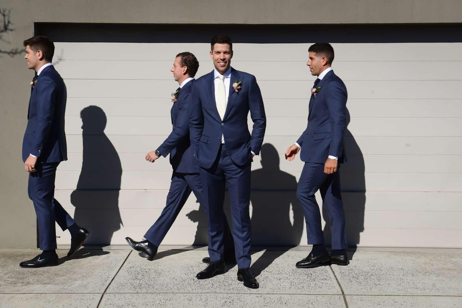 Emily Simms Melbourne Wedding Photos Groomsmen