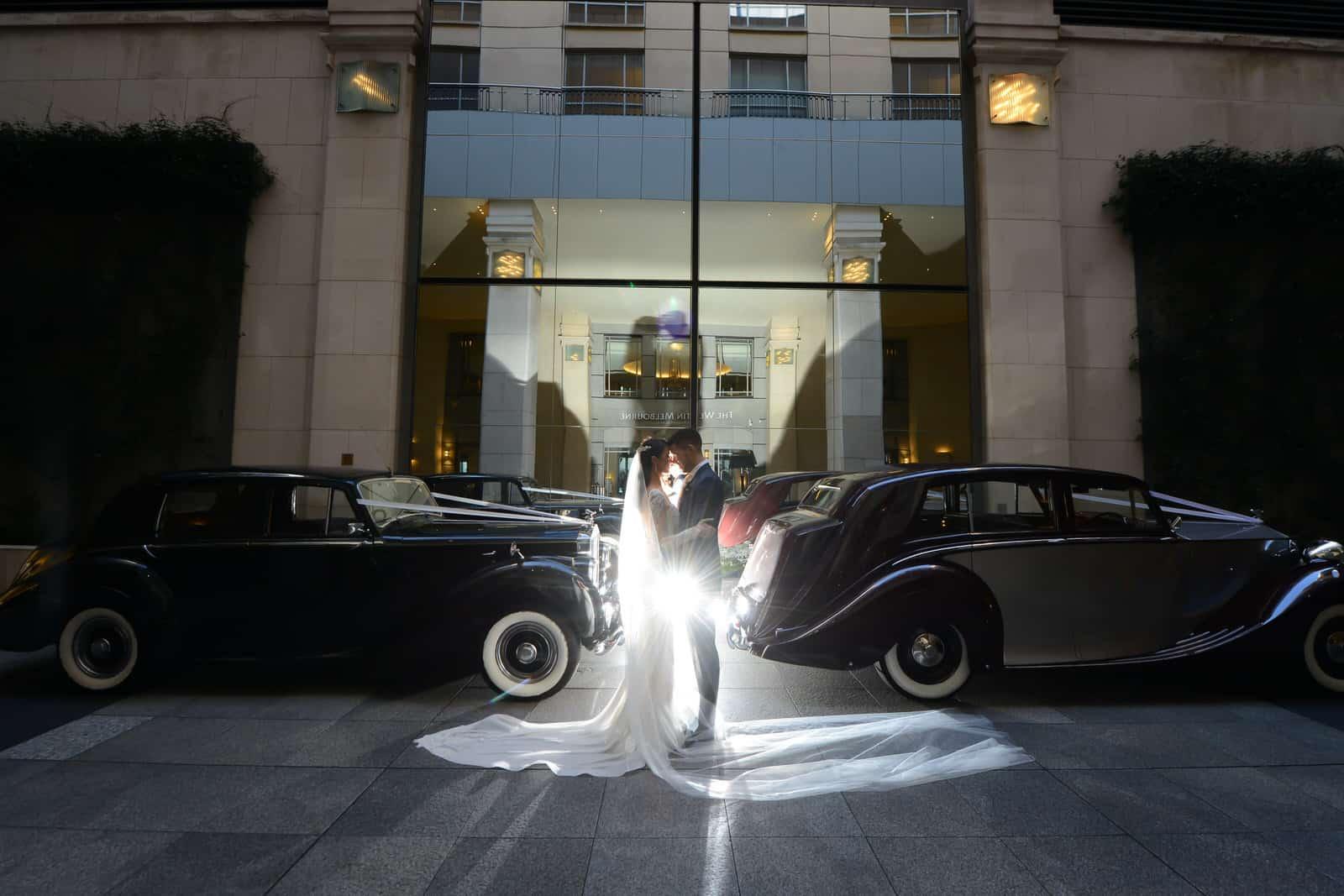 Emily Simms Melbourne Wedding Night Wedding Cars