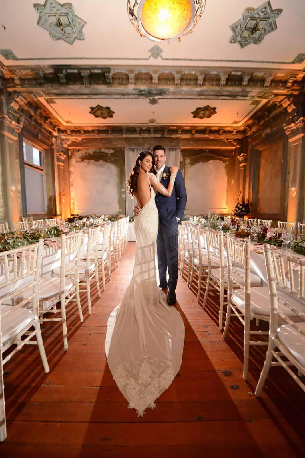 Emily Simms Melbourne Wedding Reception @ The George Ballrooom