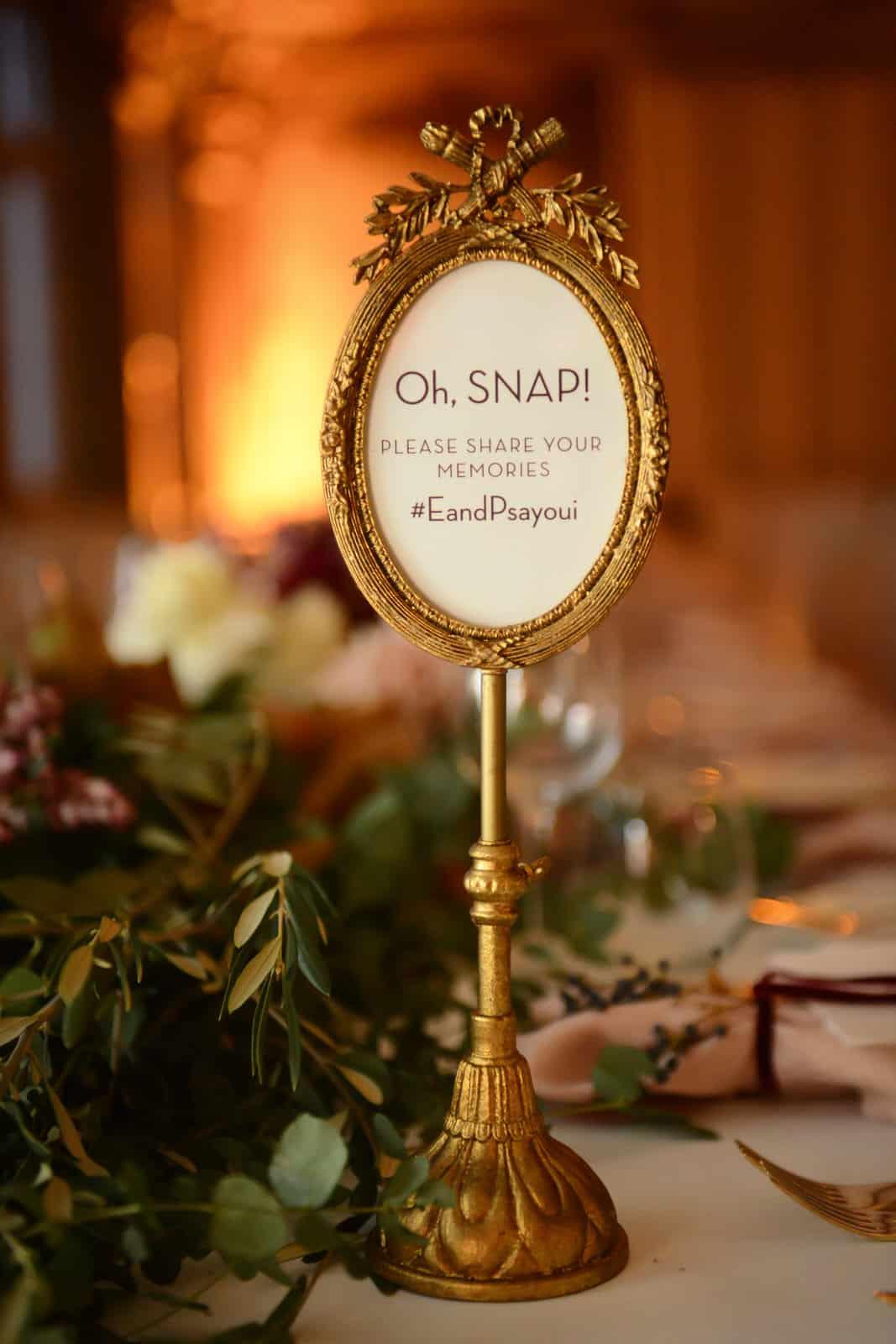 Emily Simms Melbourne Wedding Sign @ The George Ballrooom