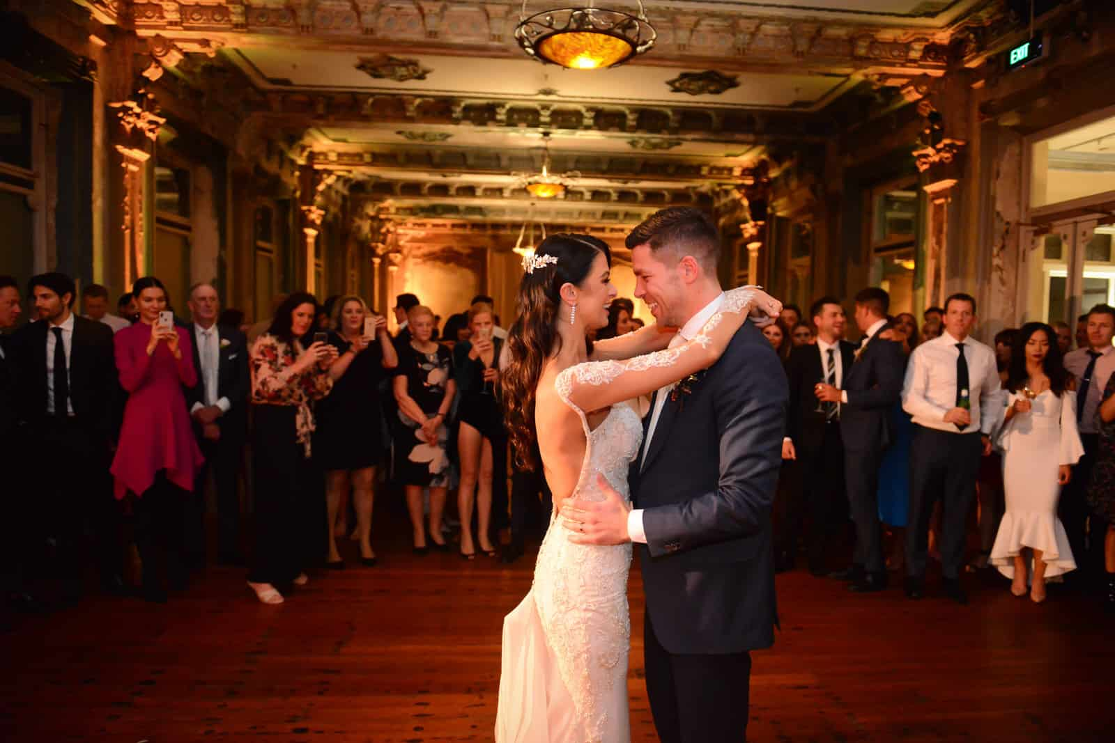 Emily Simms Melbourne Wedding First Dance @ The George Ballrooom