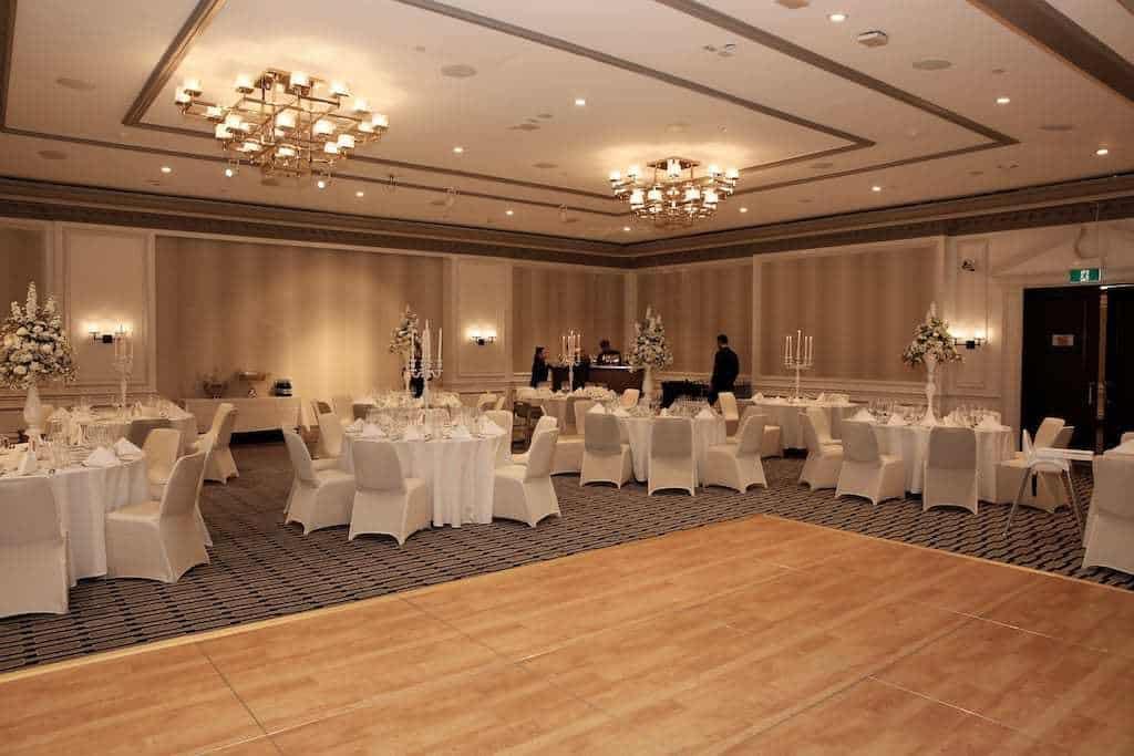 wedding reception venue room
