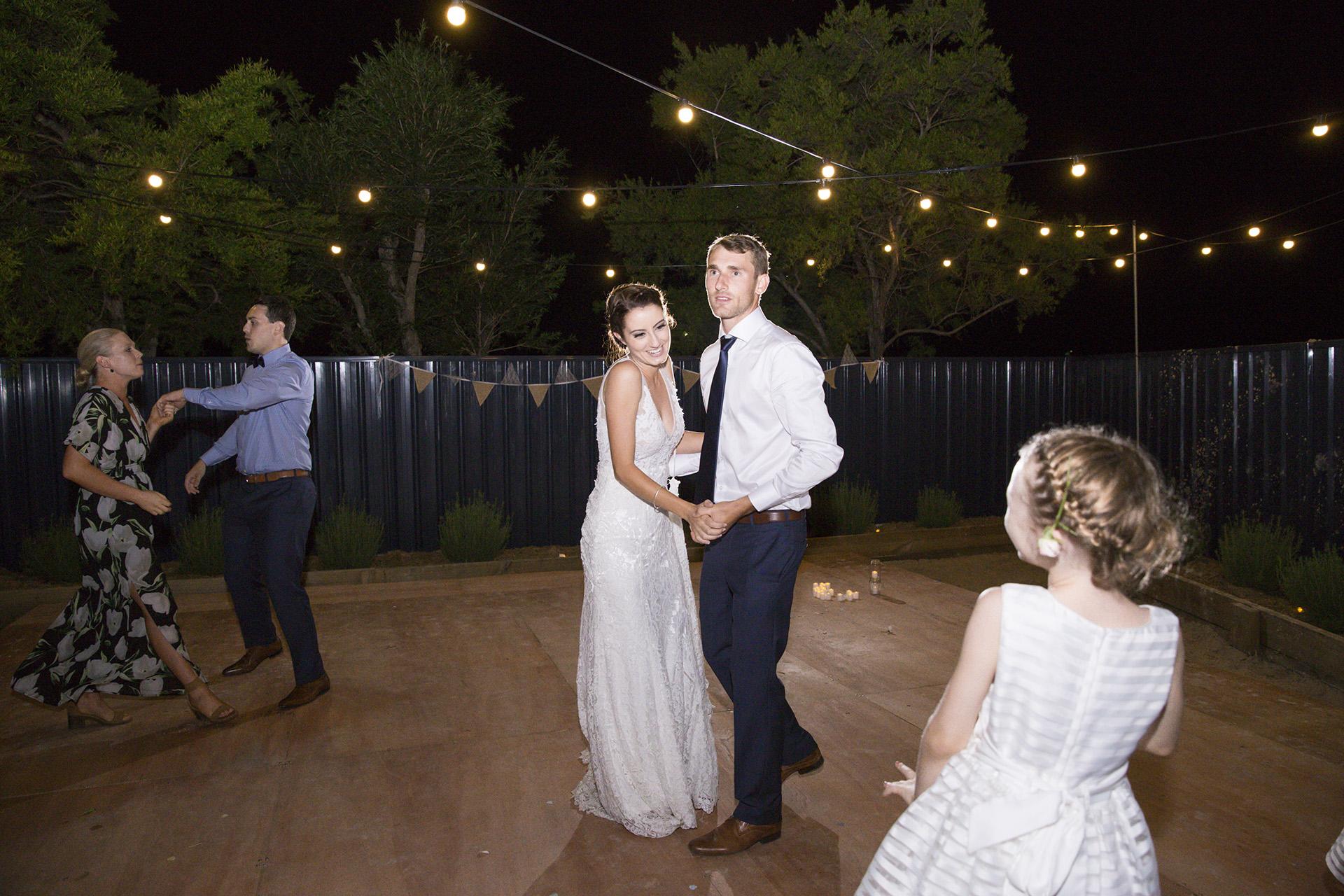 backyard wedding dance