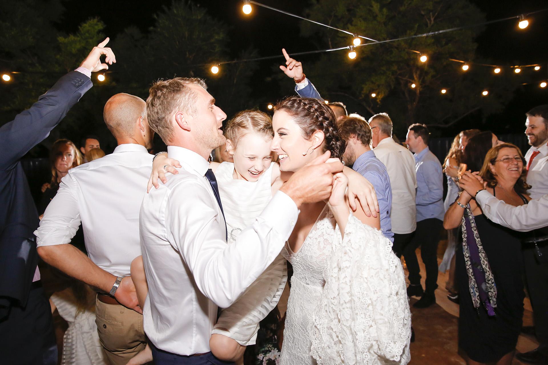 bride at backyard wedding
