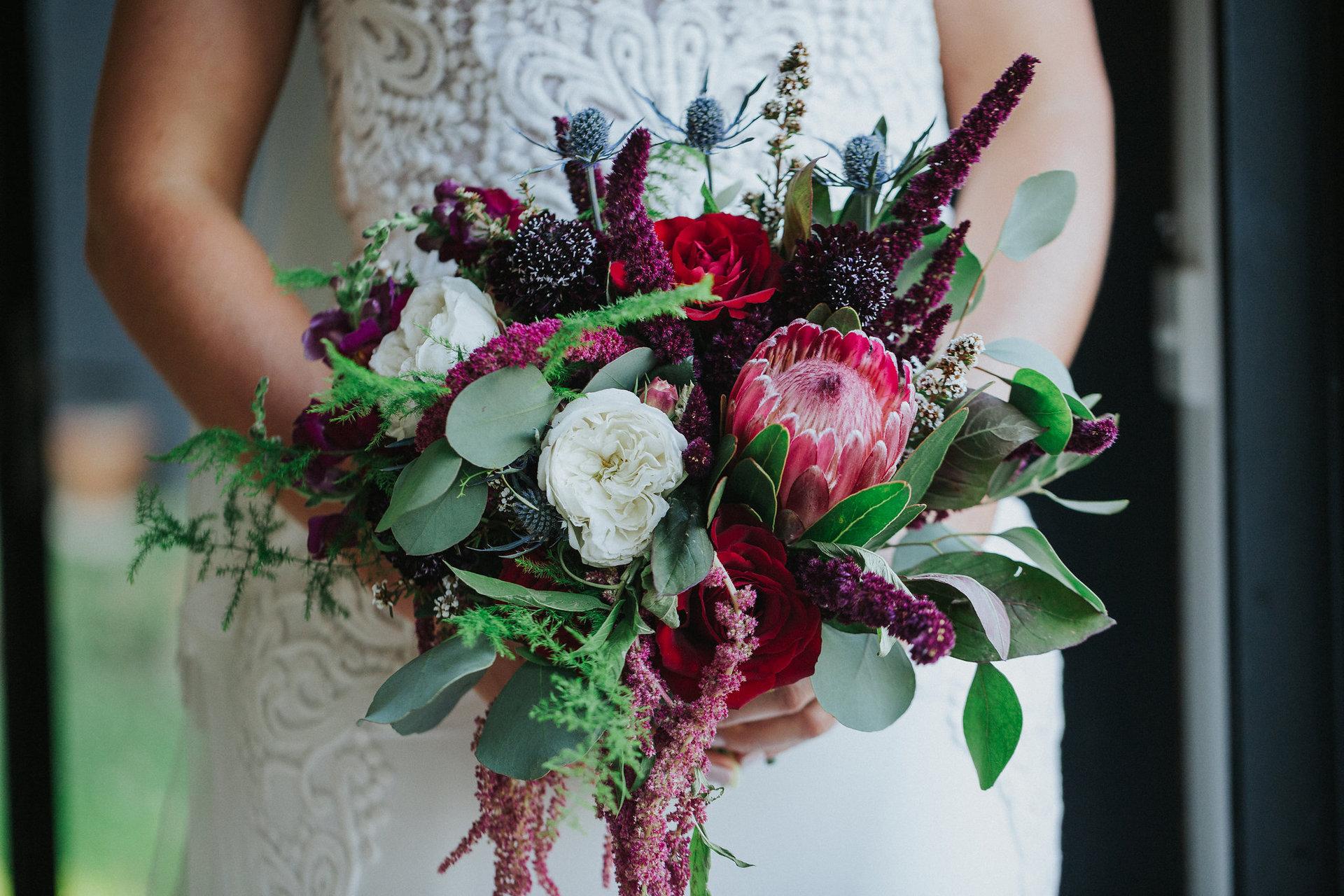 the bridal bouqet