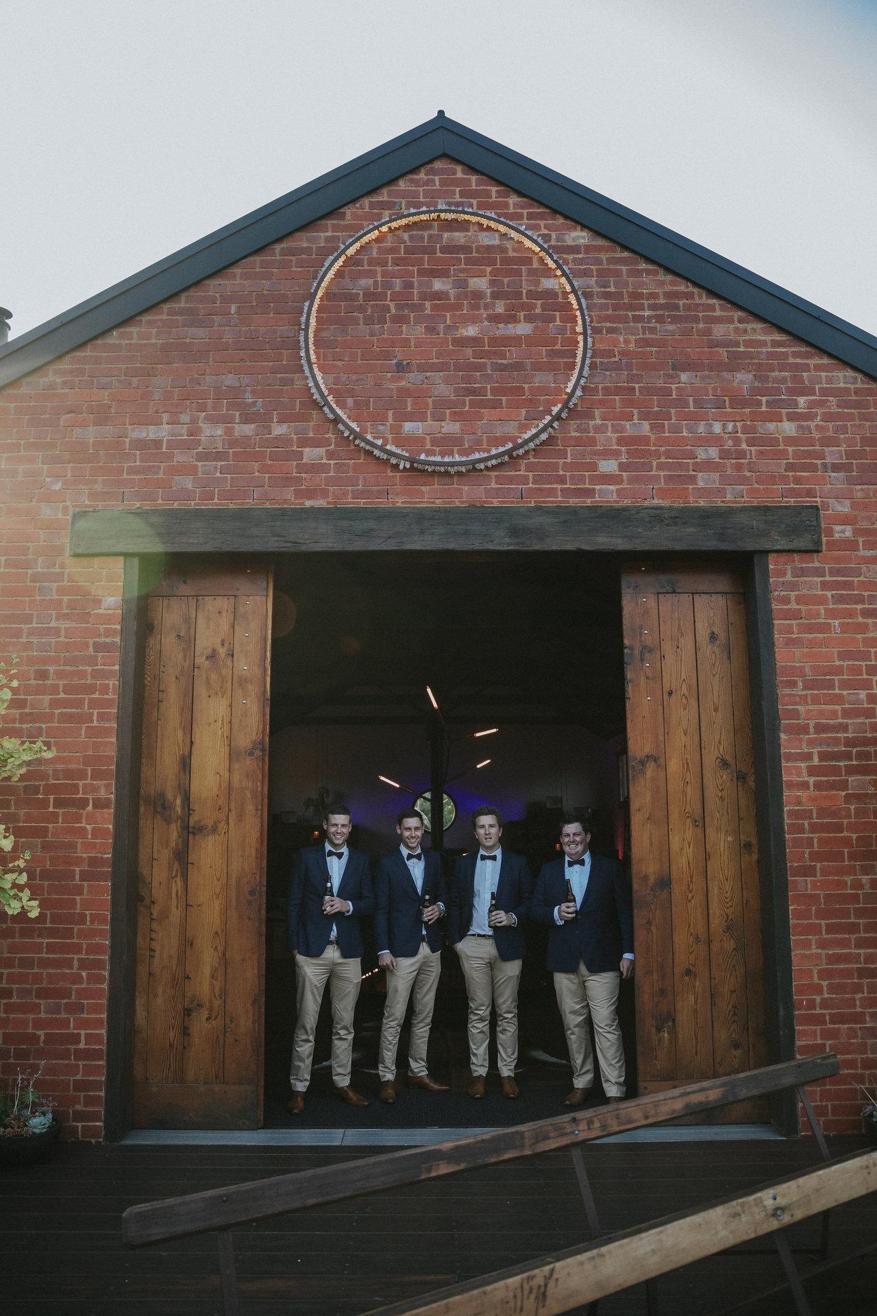 Simon and groomsmen at Projekt 3488 Wedding