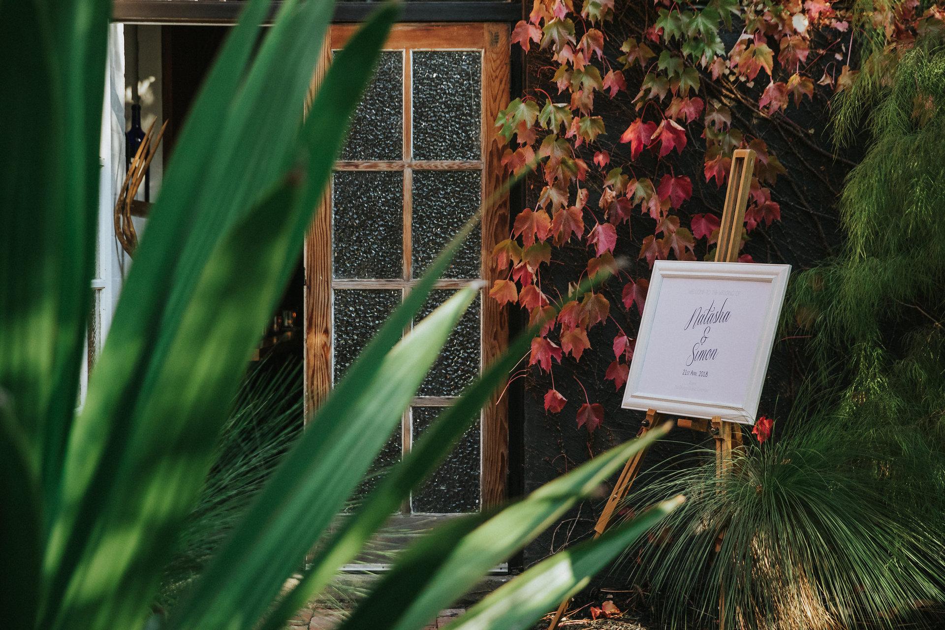 entrance to wedding reception at Projekt 3488
