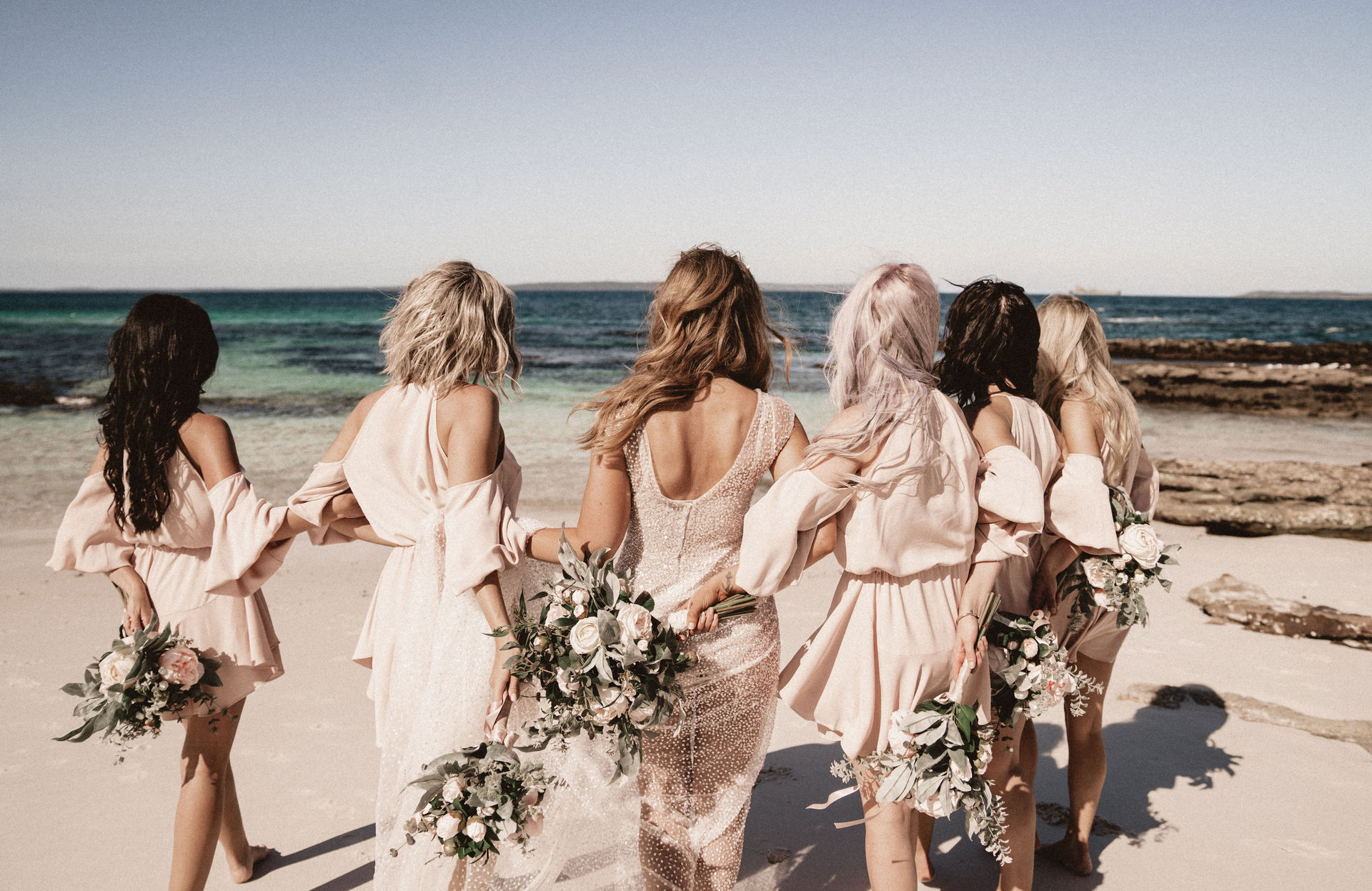 bridesmaids by the bay