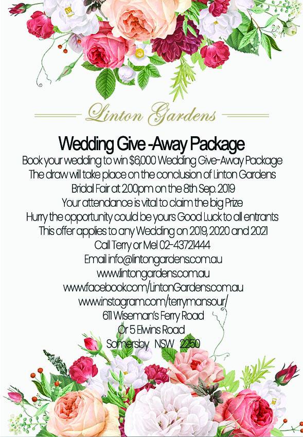 wedding give away